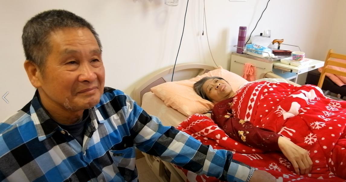 癌末病患家屬游先生說,推癌末妻進安寧病房,不是放手,而是希望休息一陣子後再繼續走...