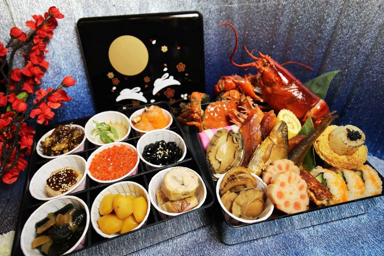 竹川日本料理年節限定,來自日本幸福的味道「御節便當」。圖/台南大億麗緻酒店提供