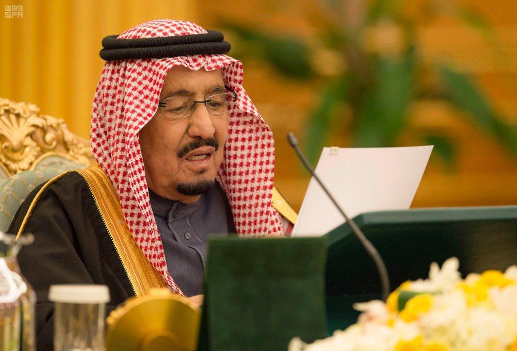 沙烏地阿拉伯國王薩爾曼。路透