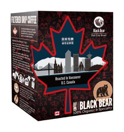 加拿大黑熊有機濾掛咖啡,單盒180元,第2件5折。圖/全聯提供