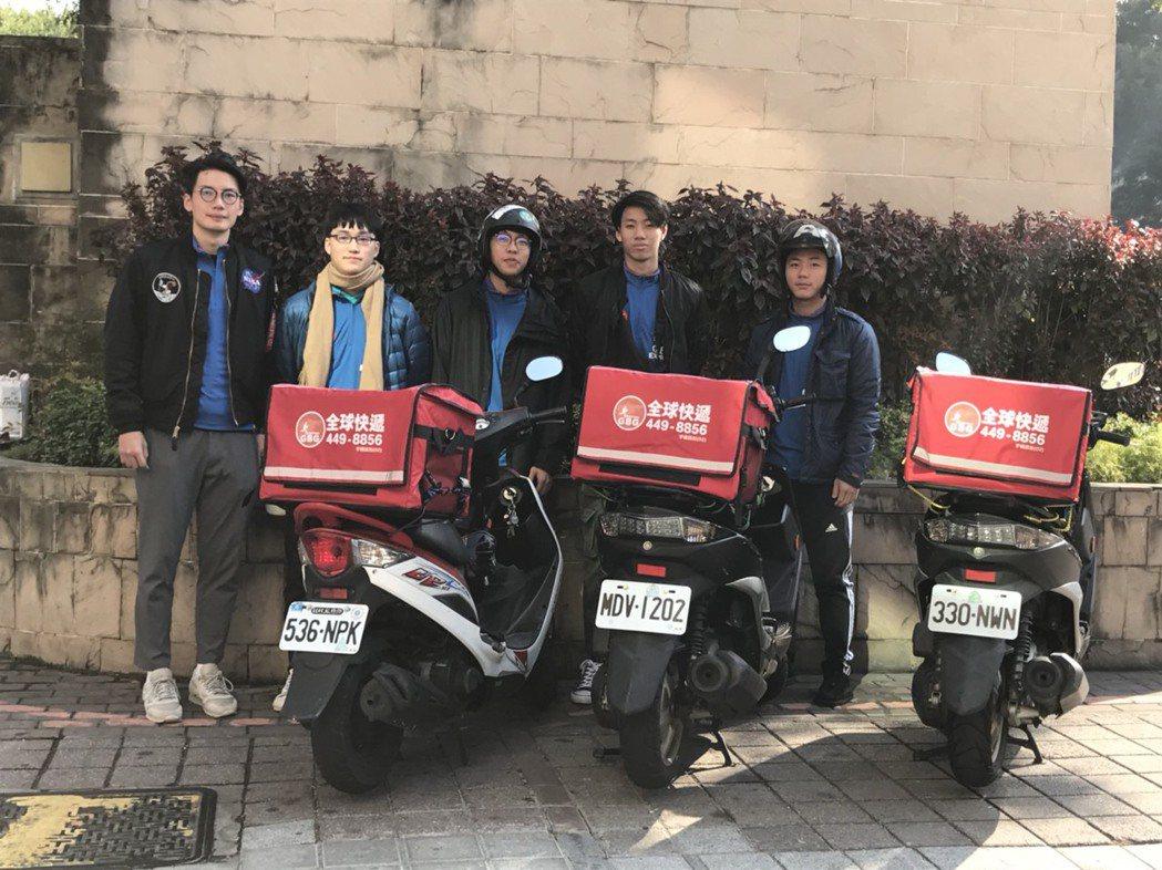 未來這群小蜜蜂將撐起逢甲商圈快送服務的重責大任。圖/台灣大車隊提供