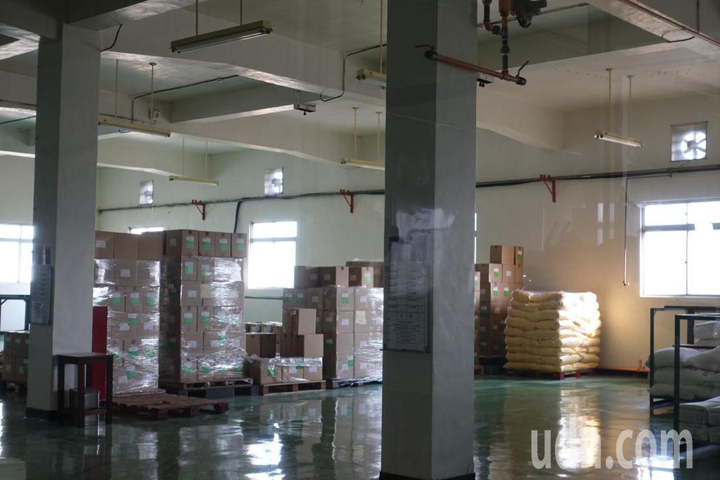裕榮食品廠區內規劃原料區。記者劉星君/攝影