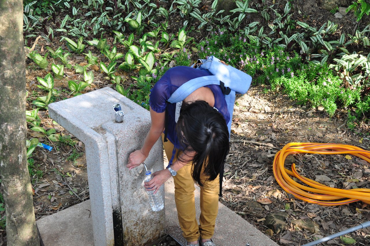 攝影平台旁所設置的直飲機,方便民眾飲水。圖/摘自臺北市政府工務局大地工程處官網