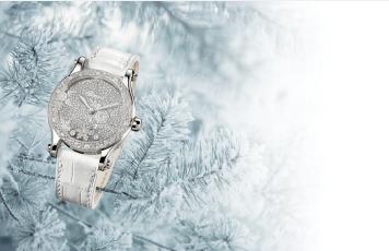 蕭邦Happy Snowflakes腕表,18K白金36毫米表徑,自動上鍊機芯,...