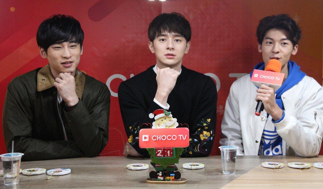許光漢(右起)、張軒睿、章廣辰在「我的男孩」戲中,3人是死黨、戲劇社成員。圖/C