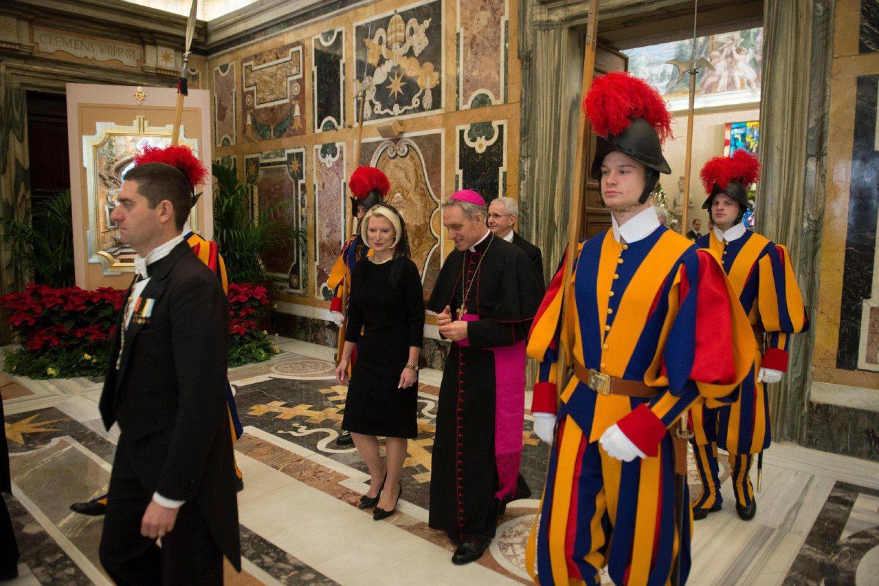 前眾院議長金瑞契夫人就任駐教廷大使。 歐新社