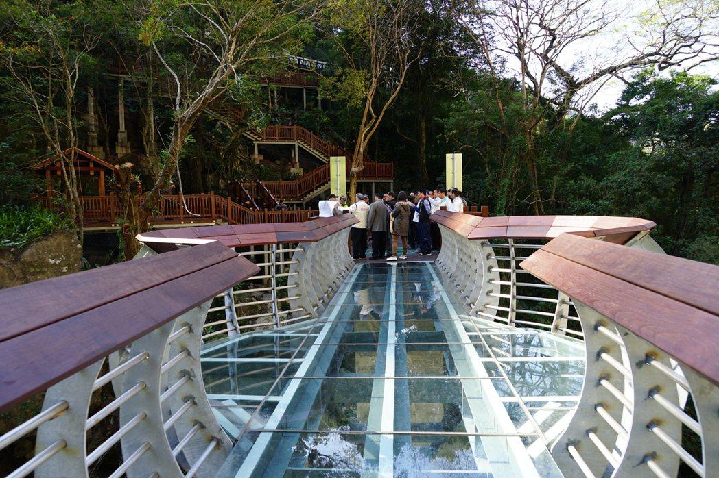 新竹縣首座天空步道將在明年2月正式對外開放。記者陳妍霖/攝影