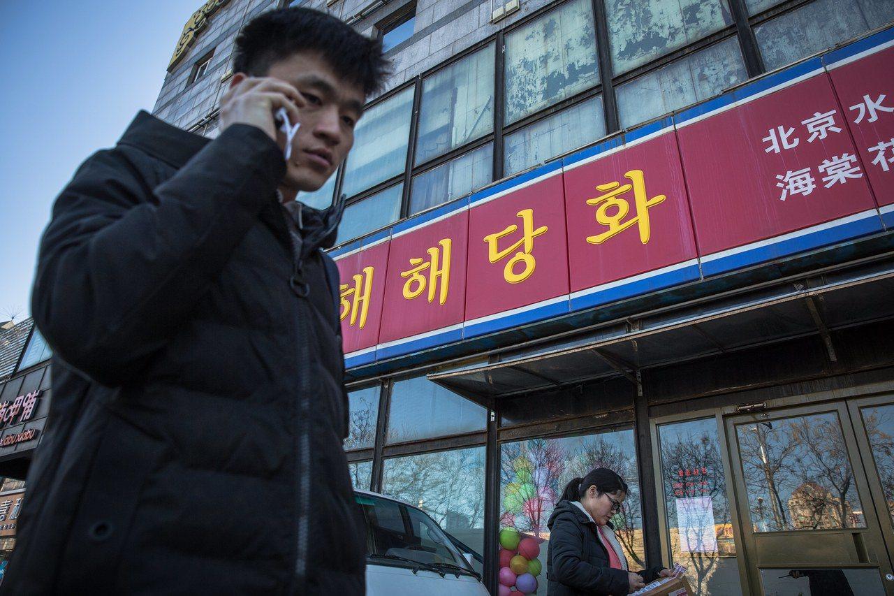 中國大陸下令關閉北韓在大陸的公司。圖為北京一家已停止營業的北韓餐廳。歐新社