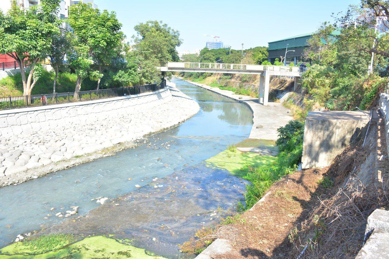 賴清德在台南市長任內推動重大的計畫之一「 竹溪環境改造」,水質經改善後已有白鷺鷥...