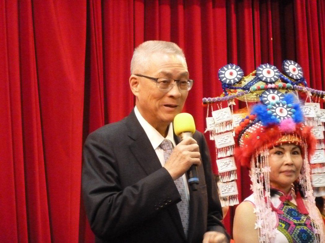 國民黨主席吳敦義今天表示,他最近到包含玄天上帝、關公廟、媽祖廟、觀世音的廟,都虔...