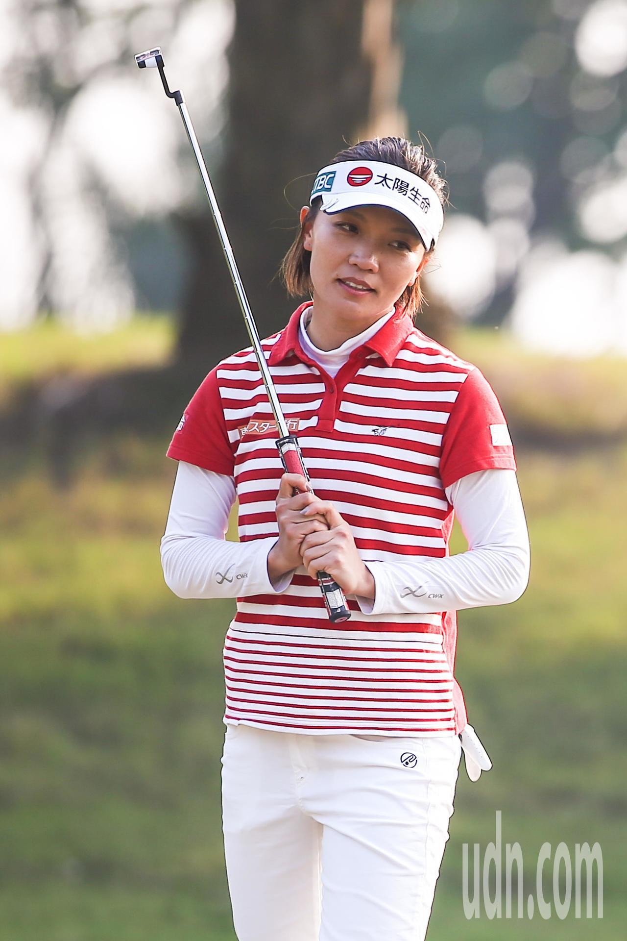2017中國信託女子高爾夫球公開賽,我國好手盧曉晴以一桿之差落敗屈居第二。記者王...