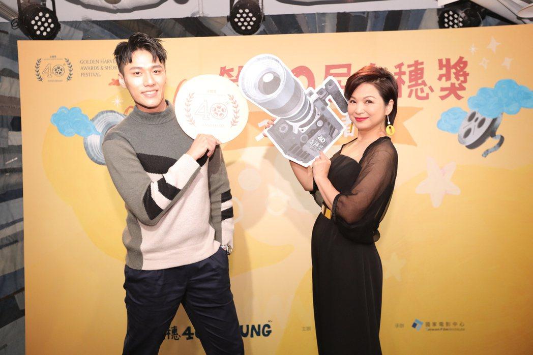楊貴媚與張睿家擔任第40屆金穗獎大使。圖/金穗獎提供