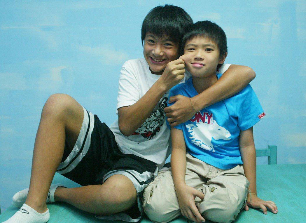 李冠毅(左)和潘親御小時候合作「囧男孩」,至今仍讓人印象深刻。圖/報系資料照片