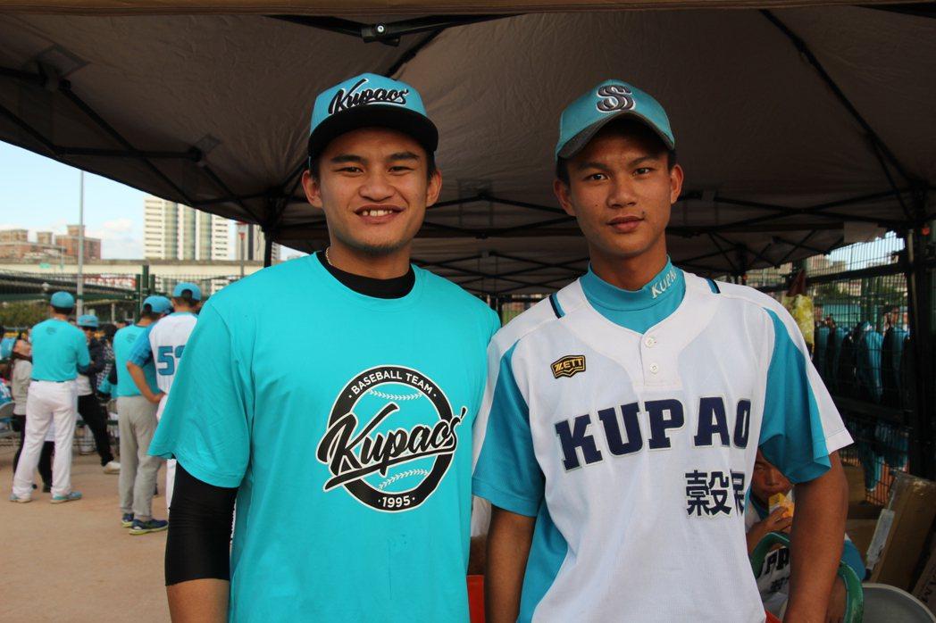 中信兄弟隊岳東華(左)與弟弟岳政華都來自穀保家商。