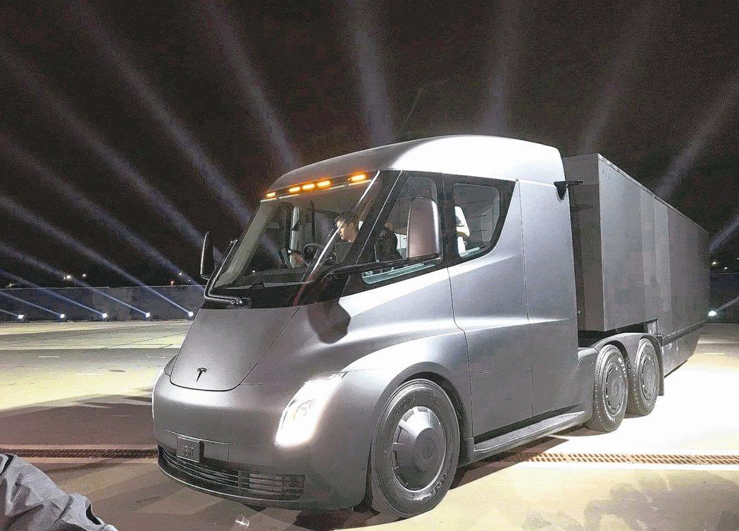 特斯拉旗下電動卡車Semi充一次電就可跑800公里,即使尚未正式生產,歐美預購狀...