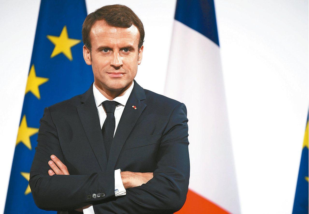 法國總統馬克宏。 路透