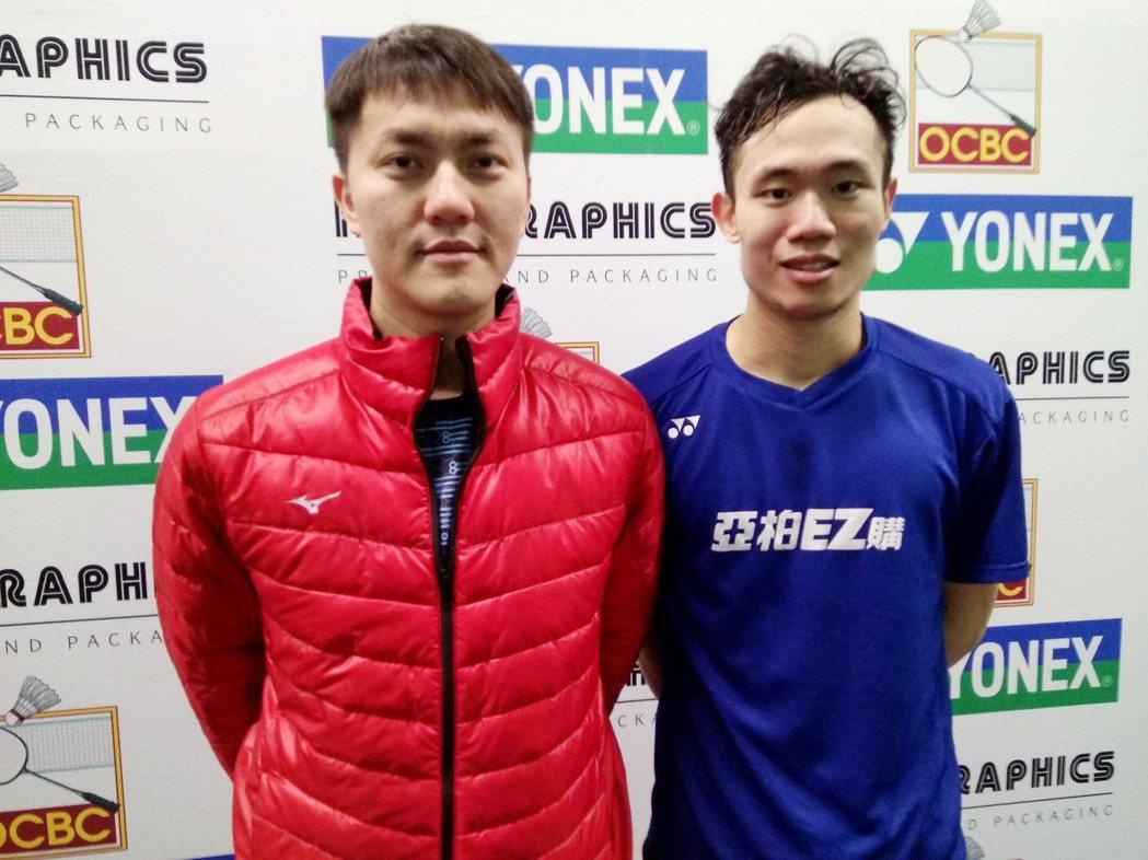 呂家弘(右)因兄姊鼓勵找回信心,參加本屆國際羽球挑戰賽,男單與男雙都晉級8強。圖...