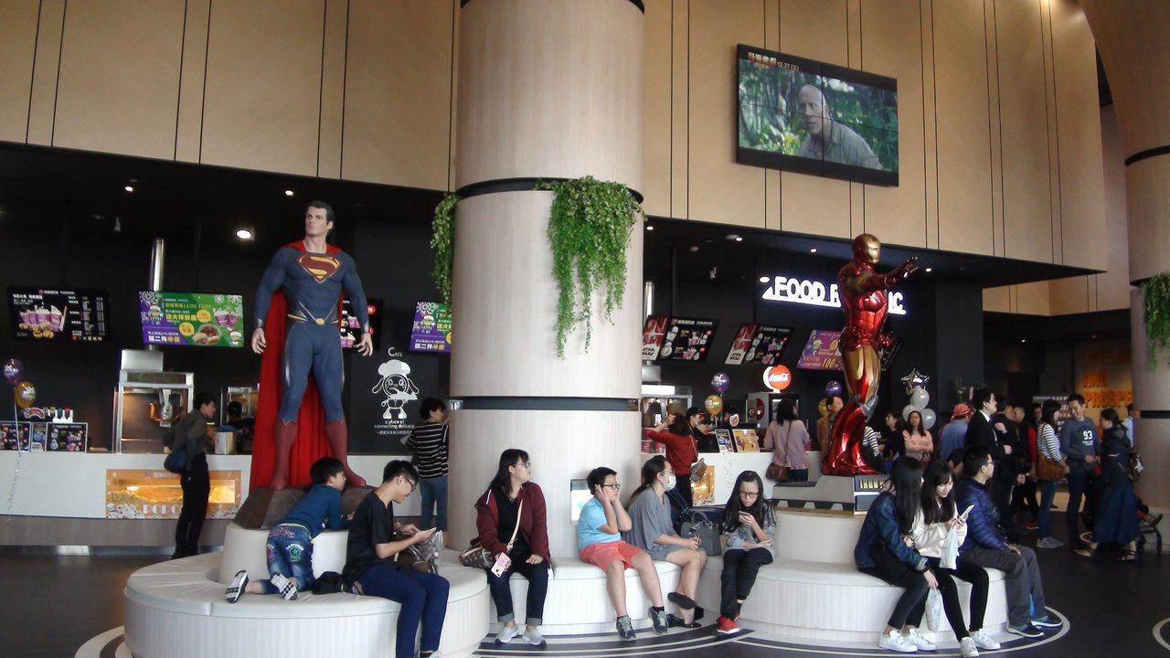 影城重新改裝,把電影角色融入電影院中。記者謝梅芬/攝影