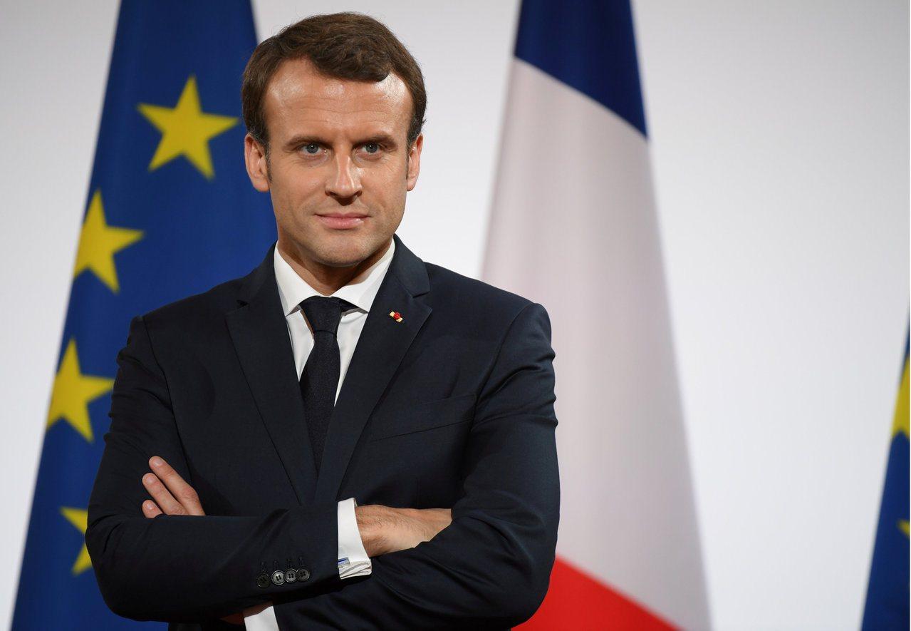 法國總統馬克宏。路透