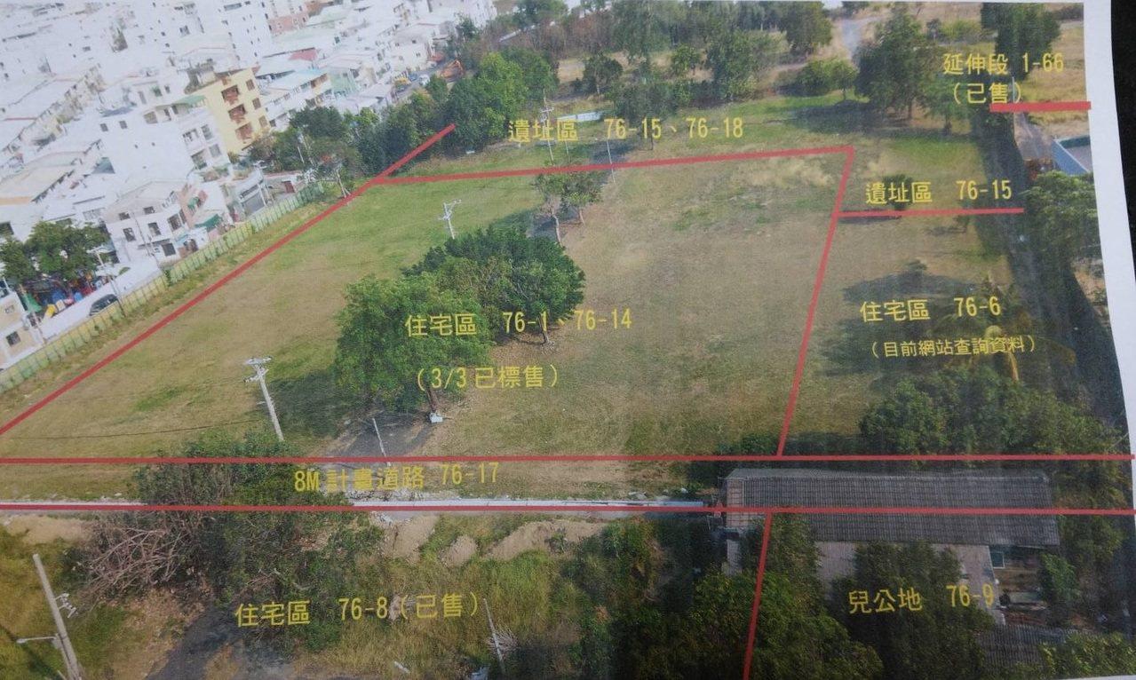 台南市市定遺址日軍射擊場附近土地都將變成住宅區,附近居民希望能爭取76-6保留為...