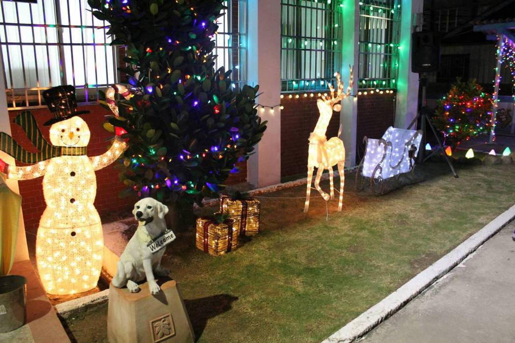 北門分駐所有耶誕氣氛。圖/學甲警分局提供