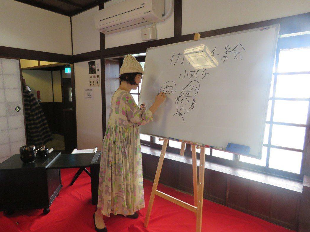 日本插畫家佐佐木千繪今天發展新書「LOVE台南」,介紹她喜愛的台南。圖/台南友好...