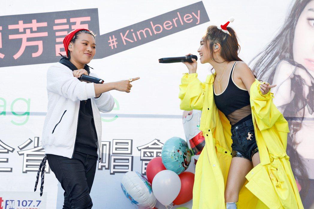葛仲珊(左)替陳芳語站台。圖/Sharp Music提供