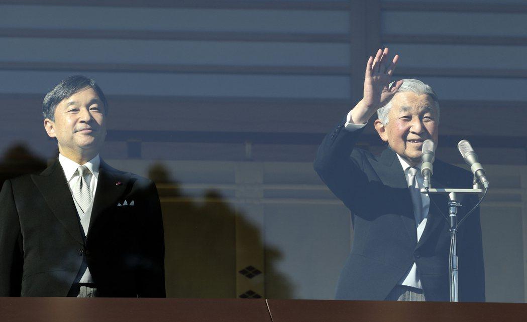 日本明仁天皇將於2019年4月退位,皇太子德仁將於5月即未。美聯社