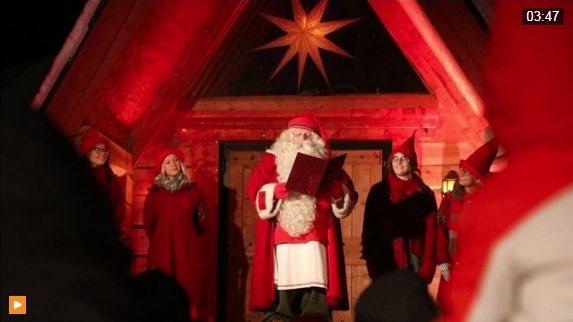 耶誕老人故鄉,芬蘭羅瓦涅米,耶誕老人出發前,祝福全球孩童耶誕節快樂。(圖/翻攝路...