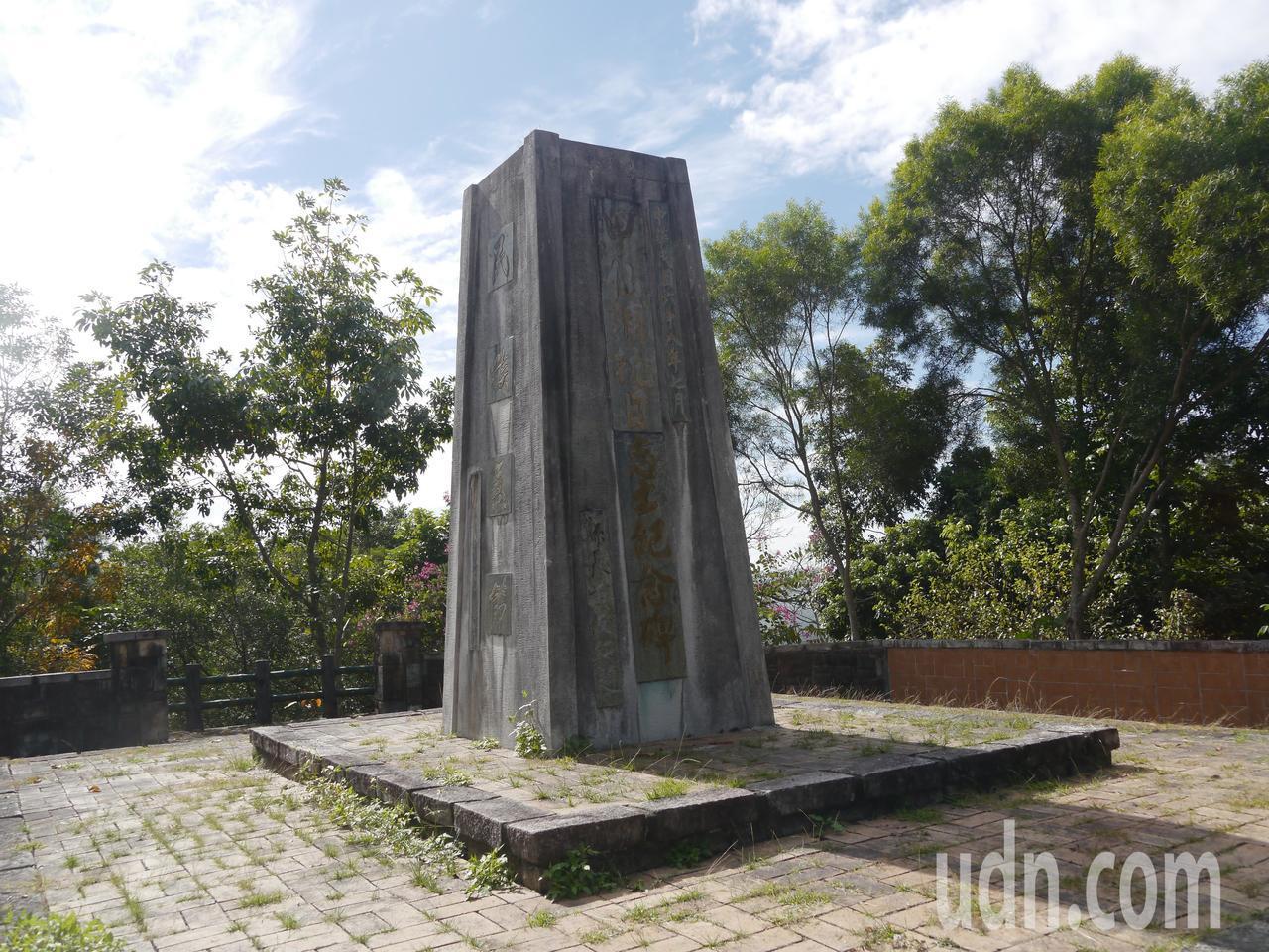 甲仙公園原為日人神社,後來豎立抗日紀念碑。記者徐白櫻/攝影
