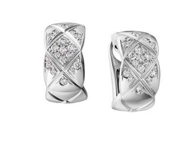 COCO CRUSH 耳環,18K白金鑲嵌34顆明亮式切割鑽石,15萬7,000...