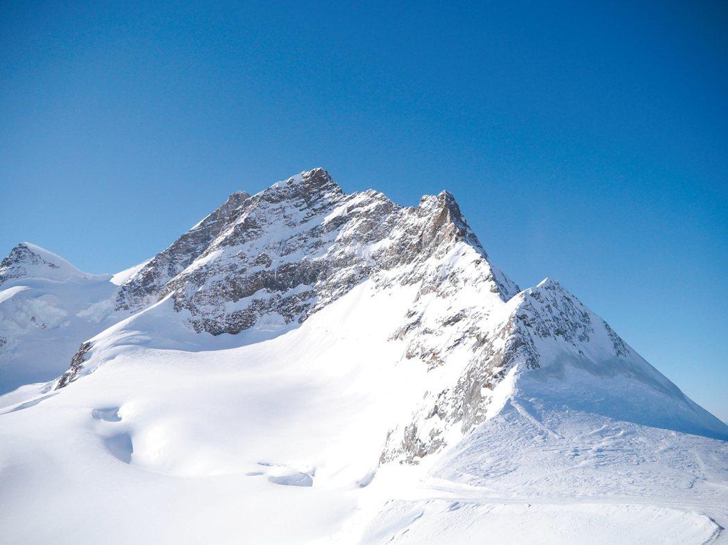站在少女峰高處,遠望皆是冰原美景。 記者許晉榮/攝影