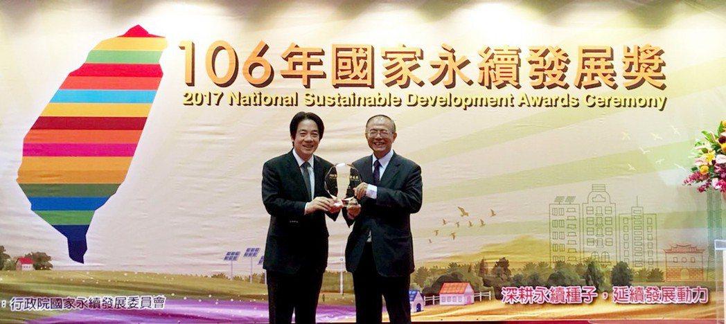 南華大學榮獲「國家永續發展獎」,致力成為永續校園之典範。 南華大學/提供