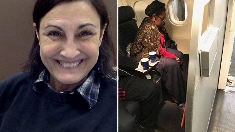 女教師指控聯航12月18日把她從頭等艙趕走,而把座位讓給一名民主黨籍的國會女眾議...