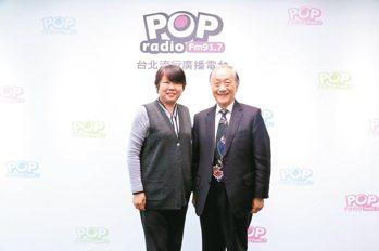 新黨主席郁慕明(圖右)。 POP搶先爆/提供