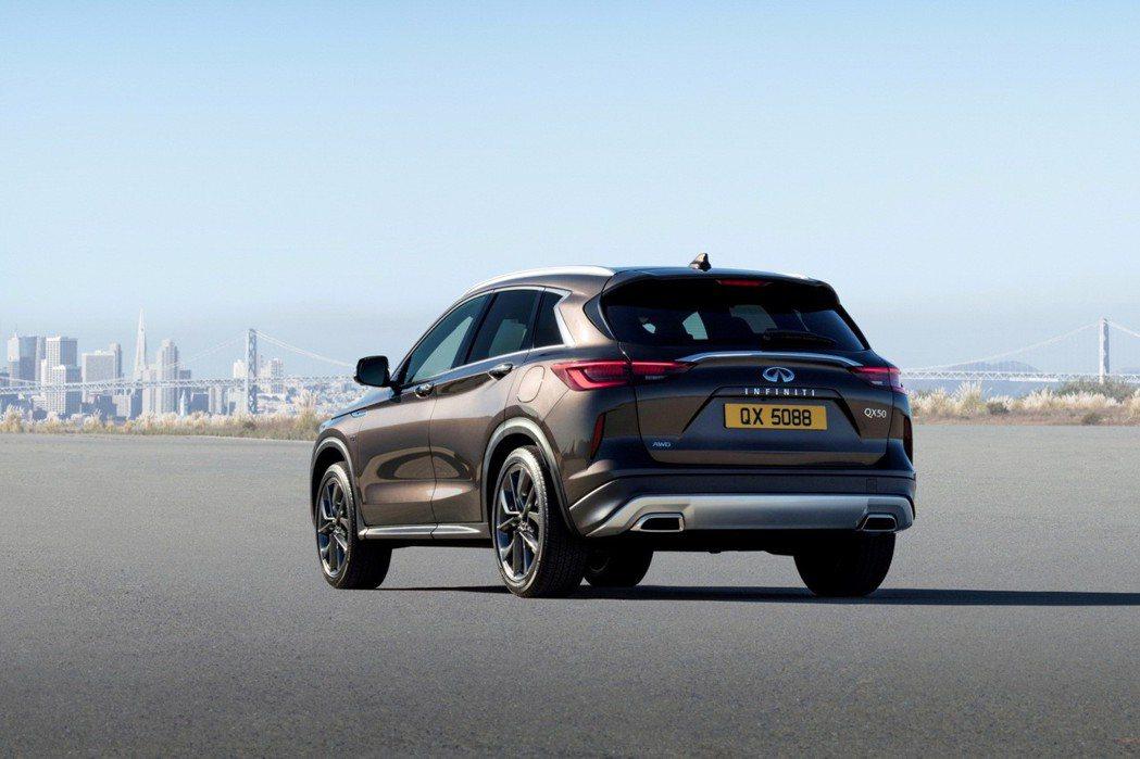 INFINITI QX50擁有幾乎與概念車完全如出一轍的外型美學。 摘自Infi...