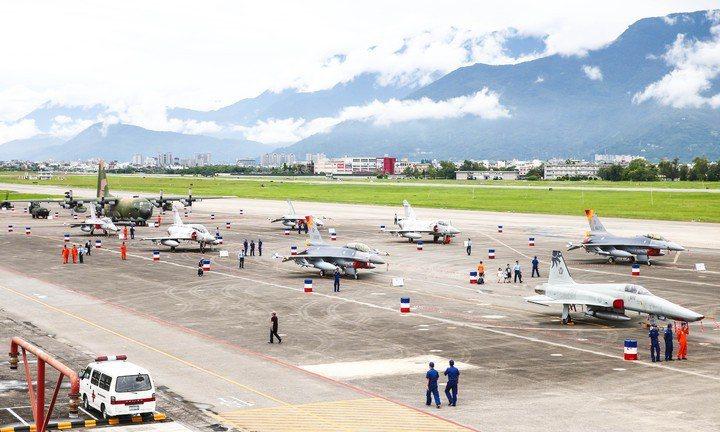花蓮空軍基地。 圖/聯合報系資料照片