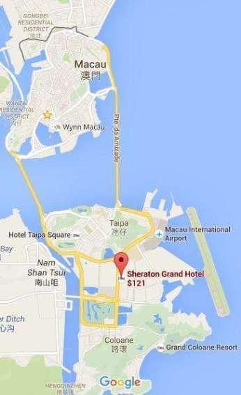 酒店為於路氹金光大道的核心地段。圖文來自於:TripPlus