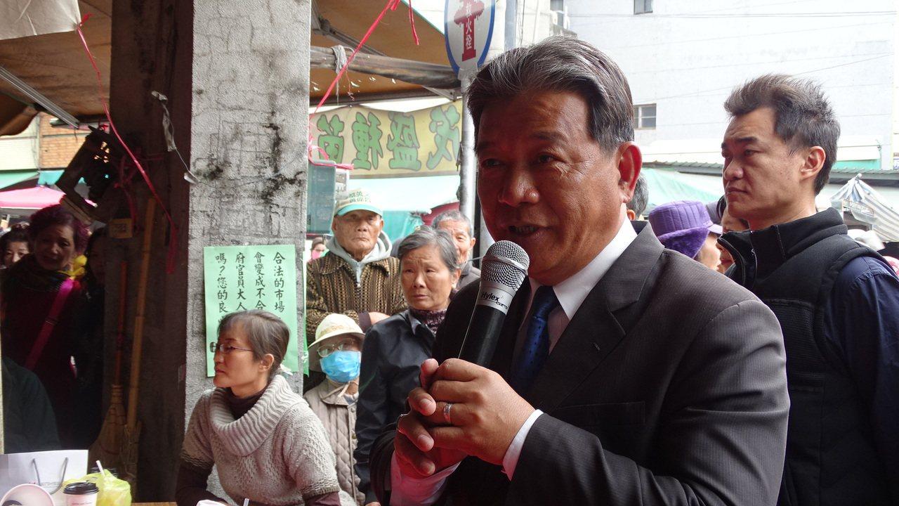 台南市議會副議長郭信良到場聲援。記者謝進盛/攝影