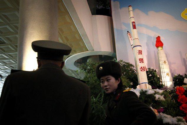 北韓在去年二月發射人造衛星「光明星4號」。美聯社