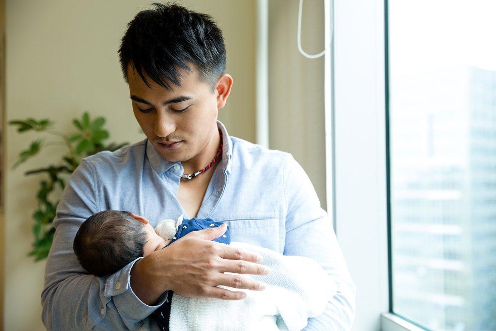 林子偉初為人父,希望女兒健康平安長大。圖/GOOD TV提供