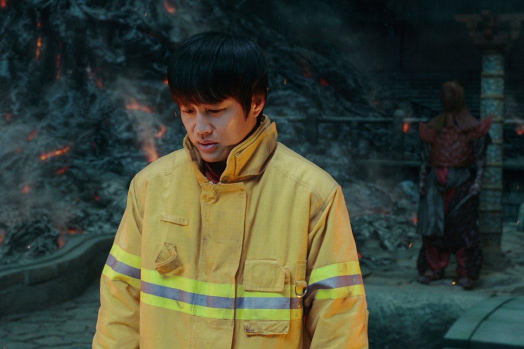 車太鉉在「與神同行」的親情戲,被譽為是全片最大哭點。圖/采昌提供