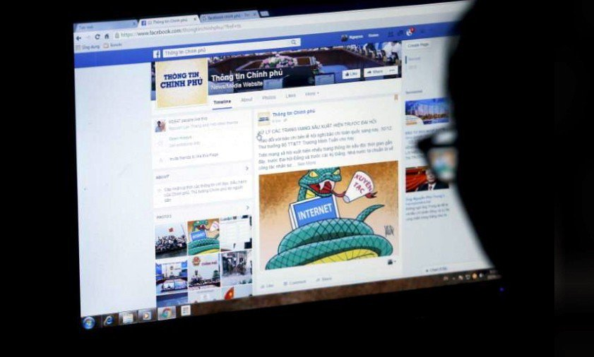 一黨專政的越南管控網路,監管社群網站刪除被認定是攻擊政府的內容。 路透社資料照片