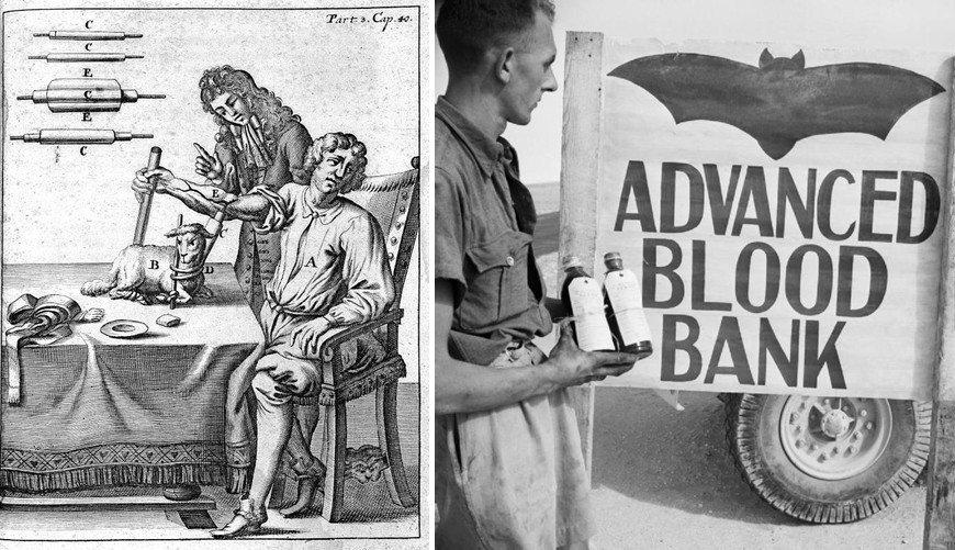 古老的年代時,醫學尚未發展出防止血液凝固的技術,當時是將尿液、牛奶、唾液、酒或動...