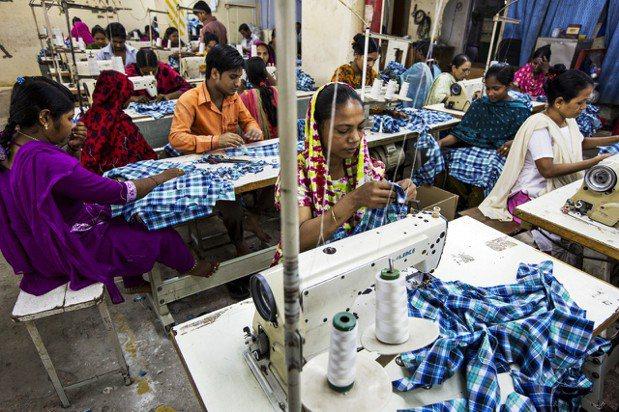 孟加拉的成衣工廠。 孟加拉首都達卡的成衣工廠。彭博