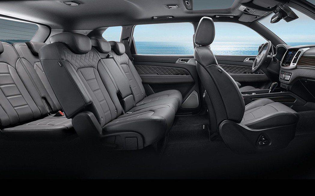 REXTON沿用5+2座椅配置,駕乘者可根據生活需求運用車室空間。 圖/SsangYong提供