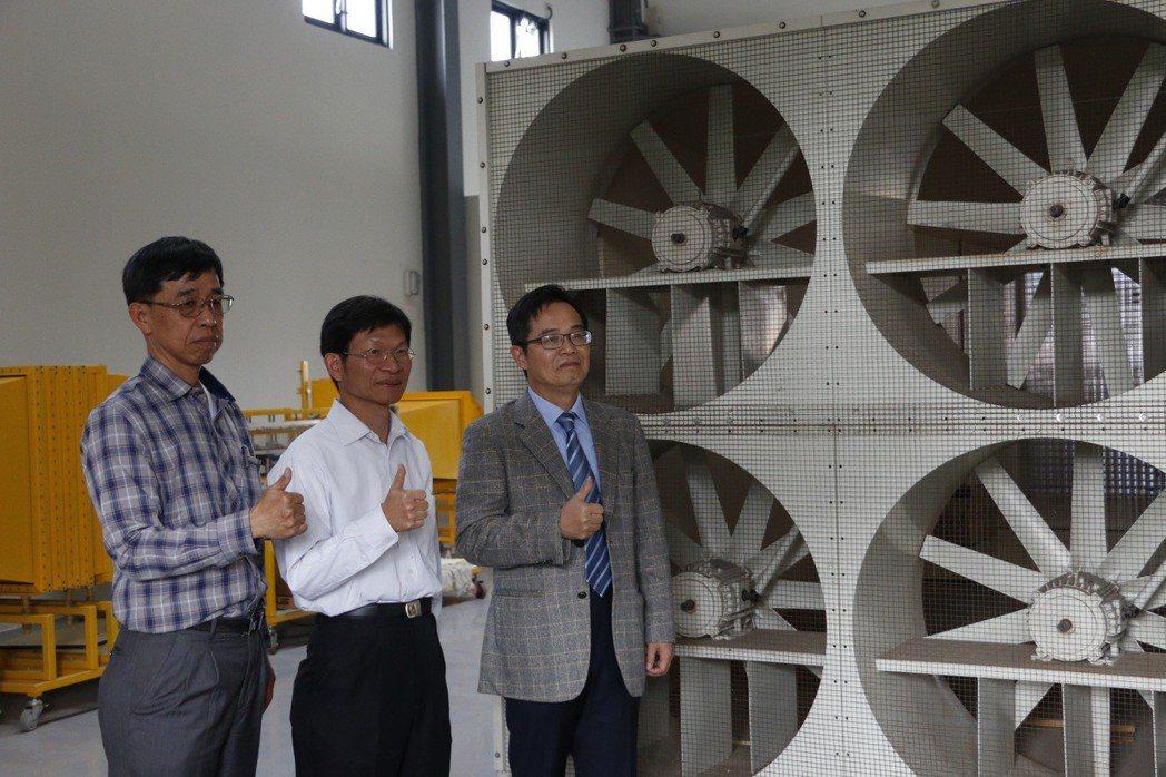 虎尾科大職能大樓設有飛機工程系「實務應用型空氣動力實驗檢測能量建置」與「智慧型飛...