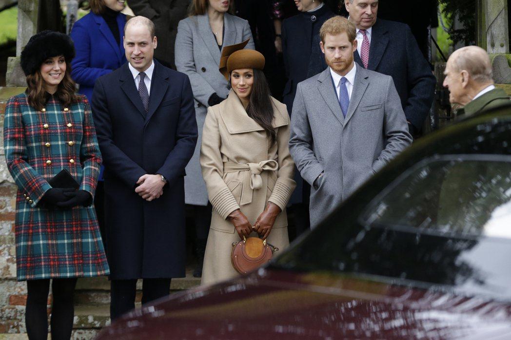 英國王室耶誕禮拜,準王妃梅根受邀參加。美聯