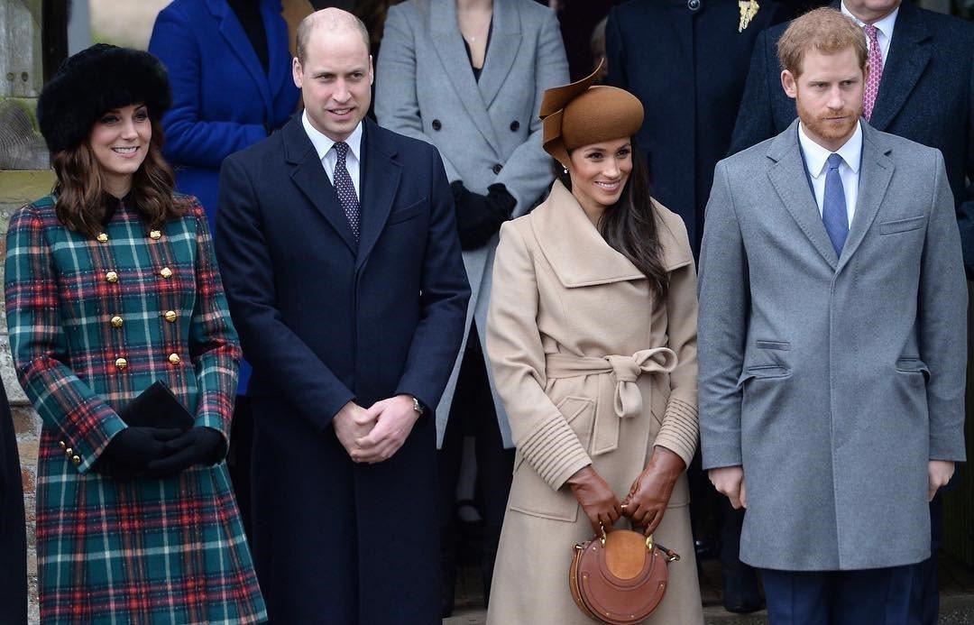 凱特王子妃在皇室耶誕節家庭日中,首度和梅根同框。圖/取自肯辛頓宮IG