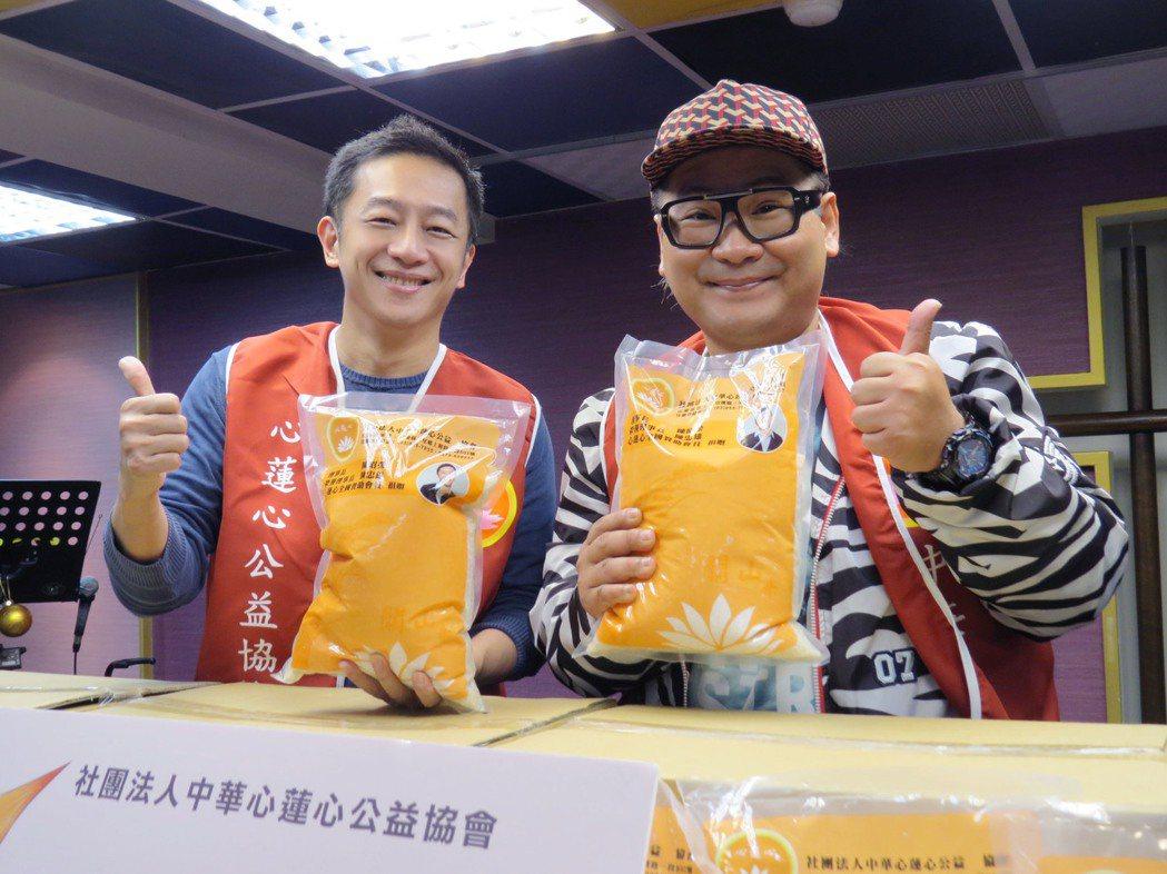一哥陳昭榮(左)愛心不間斷,長年做公益照顧弱勢團體。圖/中華心蓮心公益協會提供